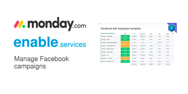 Manage Facebook campaigns with monday.com